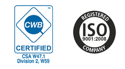 ISO and CWB Certified